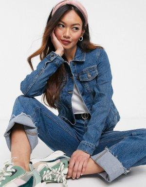 Голубая джинсовая куртка -Голубой Pimkie