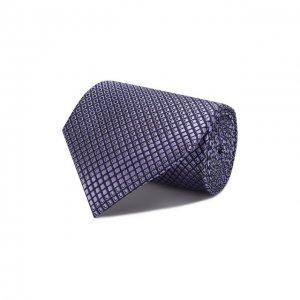 Шелковый галстук Ermenegildo Zegna. Цвет: фиолетовый