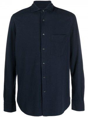 Рубашка из джерси Aspesi. Цвет: синий