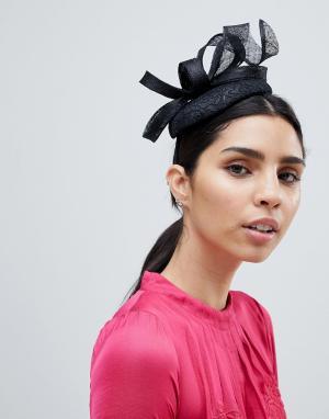 Вуалетка с кружевом Elegance. Цвет: черный