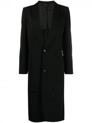 Длинное пальто Comme Des Garçons. Цвет: черный