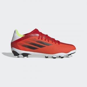 Футбольные бутсы X Speedflow.3 MG Performance adidas. Цвет: красный