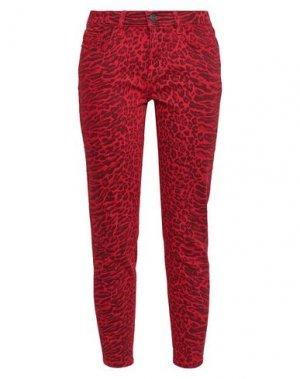 Джинсовые брюки CURRENT/ELLIOTT. Цвет: красный