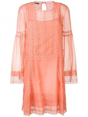 Платье с кружевными вставками Alberta Ferretti