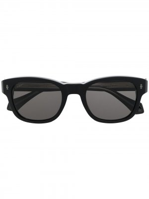 Солнцезащитные очки в круглой оправе Cartier Eyewear. Цвет: черный