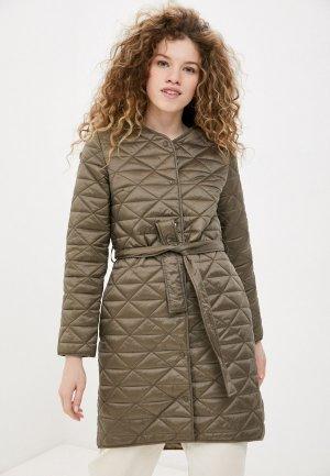 Куртка утепленная Снежная Королева. Цвет: хаки