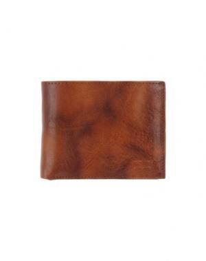 Бумажник LEVI'S RED TAB. Цвет: коричневый
