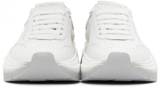 White & Grey Gradient Daymaster Sneakers Dolce Gabbana. Цвет: 80001 white