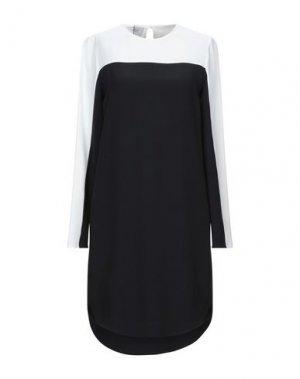 Короткое платье AKRIS PUNTO. Цвет: черный