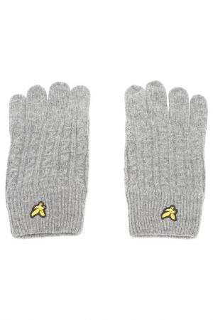 Перчатки Lyle & Scott. Цвет: серый