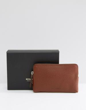 Кожаный кошелек для монет Royal Republiq Fuze. Цвет: коричневый