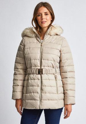 Куртка утепленная Dorothy Perkins. Цвет: бежевый