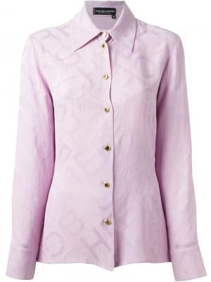 Жаккардовая рубашка Jean Louis Scherrer Pre-Owned. Цвет: розовый