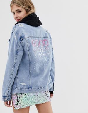 Джинсовая куртка -Синий New Look
