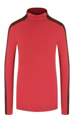 Кашемировый пуловер с высоким воротником Loro Piana. Цвет: розовый