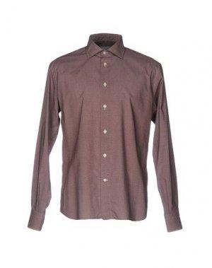 Pубашка ENRICO COVERI. Цвет: красно-коричневый