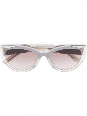 Солнцезащитные очки в оправе кошачий глаз Prada Eyewear. Цвет: нейтральные цвета