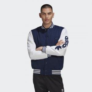 Куртка-бомбер Originals adidas. Цвет: синий