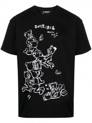 Футболка Teddy Bear DOMREBEL. Цвет: черный
