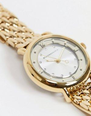 Золотистые часы-браслет -Золотистый BCBG Max Azria