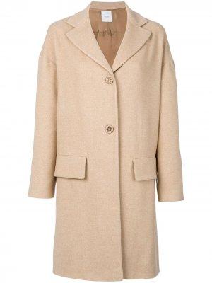 Пальто с карманами клапанами Agnona. Цвет: нейтральные цвета