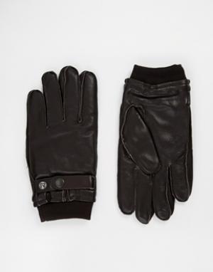 Перчатки French Connection. Цвет: коричневый