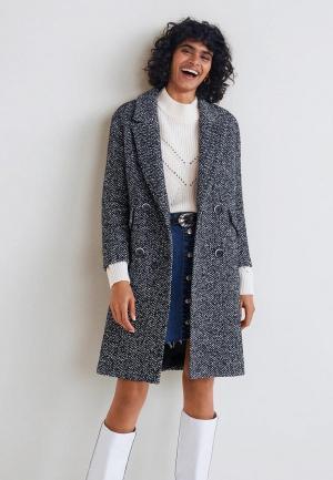 Пальто Mango - BACH. Цвет: серый