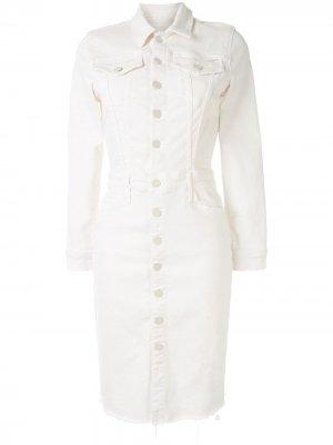 Джинсовое платье-рубашка Mother. Цвет: белый