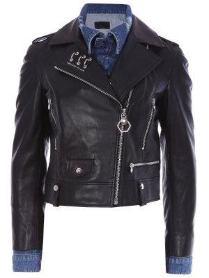 Кожаная куртка-косуха PHILIPP PLEIN
