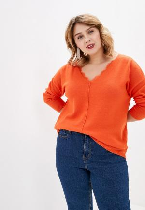 Пуловер Tom Tailor. Цвет: оранжевый