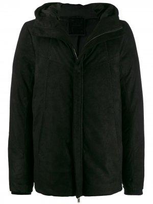 Куртка на молнии с капюшоном 10Sei0otto. Цвет: черный
