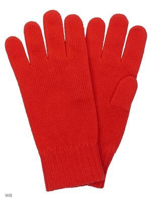 Перчатки United Colors of Benetton. Цвет: красный, белый