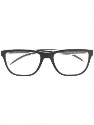 Очки в квадратной оправе Dolce & Gabbana Eyewear. Цвет: черный