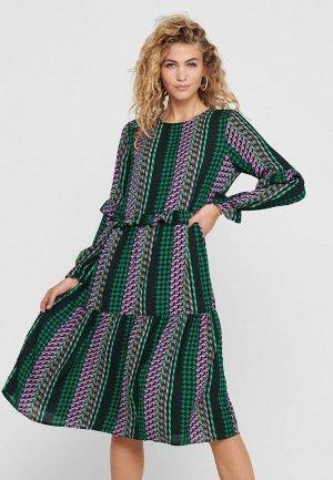 Платье Jacqueline de Yong. Цвет: разноцветный