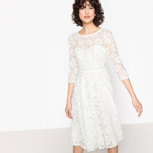 Платье La Redoute. Цвет: белый
