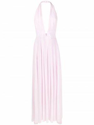Вечернее платье Hedoniste с вырезом халтер Azzaro. Цвет: розовый