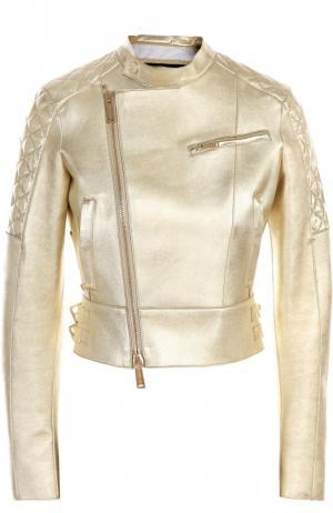 Кожаная куртка Dsquared2. Цвет: золотой