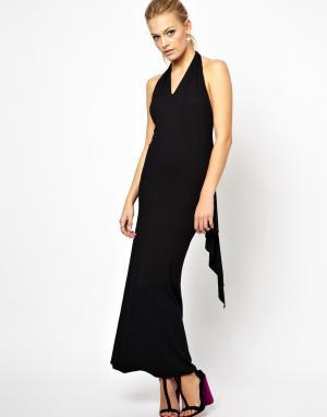 Платье макси с глубоким V-образным вырезом Boulee. Цвет: черный