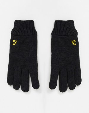 Перчатки с логотипом -Черный цвет Farah