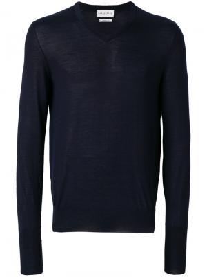 Приталенный свитер с V-образным вырезом Ballantyne. Цвет: синий