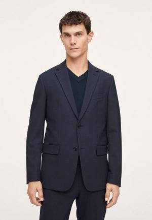 Пиджак Mango Man BREDA. Цвет: синий