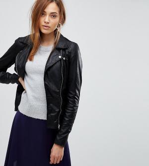 Кожаная байкерская куртка -Черный Y.A.S Tall
