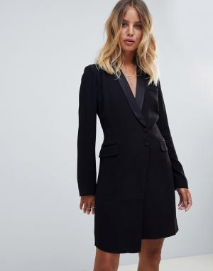 Платье в стиле смокинга BA&SH. Цвет: черный