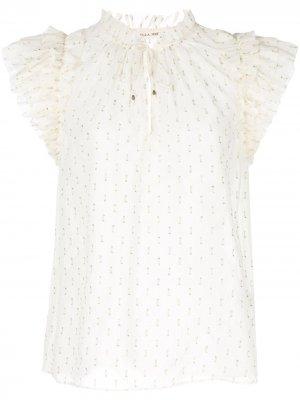 Блузка с оборками на рукавах Ulla Johnson. Цвет: белый