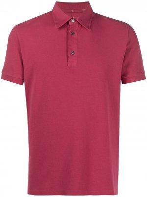 Однотонная рубашка-поло Ballantyne. Цвет: красный