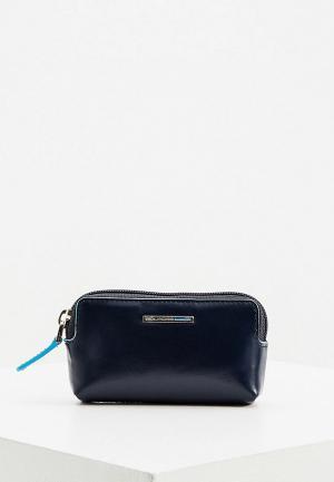 Ключница Piquadro BLUE SQUARE. Цвет: синий
