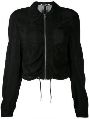 Куртка-бомбер с присборенной отделкой McQ Alexander McQueen. Цвет: чёрный