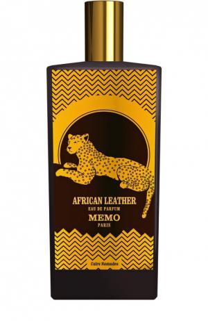 Парфюмерная вода African Leather Memo. Цвет: бесцветный