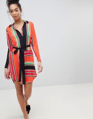 Платье-рубашка в полоску PrettyLittleThing