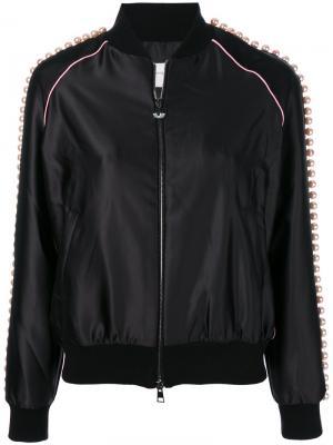 Куртка-бомбер с отделкой бисером Chiara Ferragni. Цвет: черный
